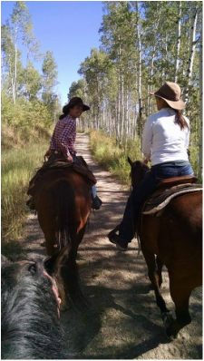 Horseback riding at a Colorado dude ranch