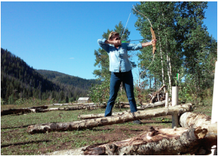 Archery for guests at the Elk River Guest Ranch
