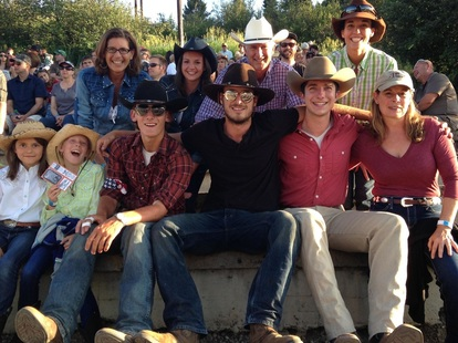Steamboat rodeo and Elk River Guest Ranch guests